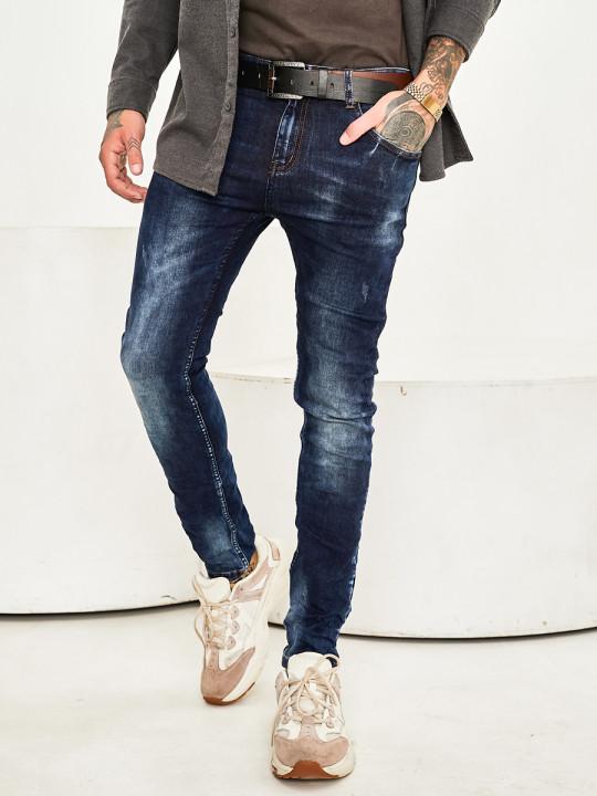 Чоловічі джинси потерті Slim Fit 1010 фото