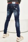 JEANS 24  - Чоловічі джинси потерті Slim Fit 1010