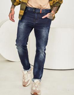 Чоловічі джинси темно-сині 1046