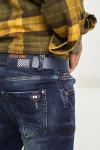 Чоловічі джинси темно-сині 1046 | JEANS 24