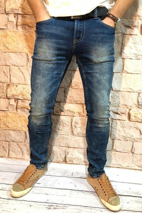 Чоловічі джинси сині з теркою 2048 | JEANS 24