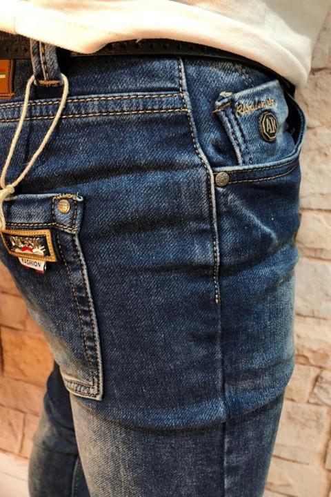 фото Чоловічі джинси сині з теркою 2048 | JEANS 24