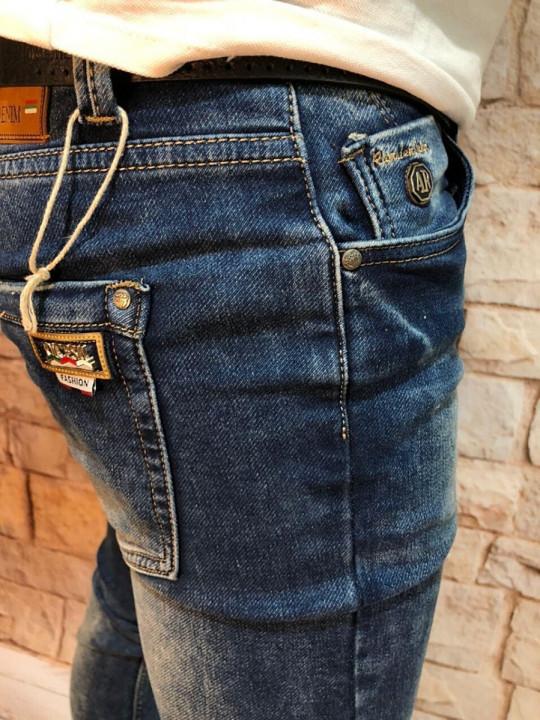 фото Мужские джинсы синие с теркой 2048 | JEANS 24