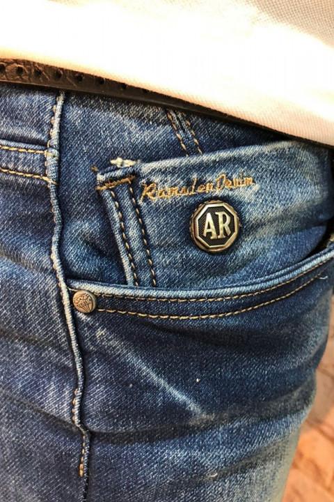 Чоловічі джинси сині з теркою 2048 фото | JEANS 24