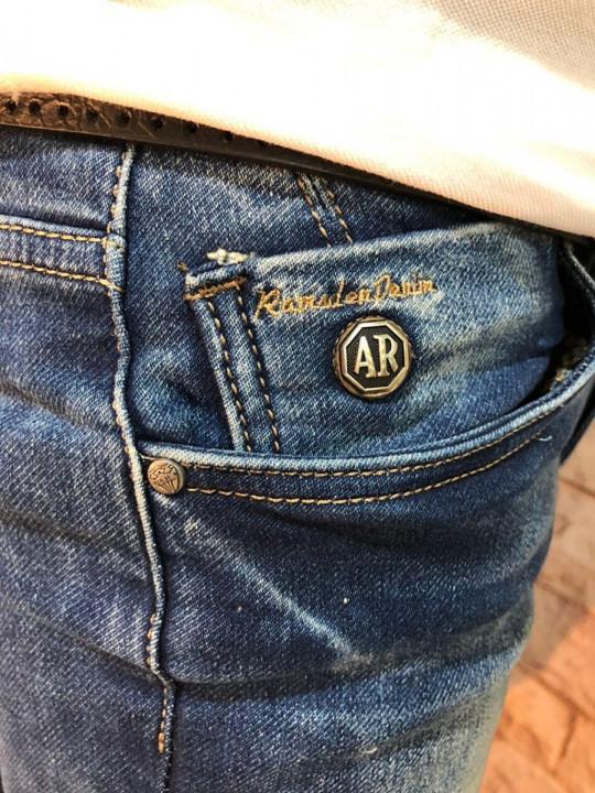 Мужские джинсы синие с теркой 2048 фото | JEANS 24