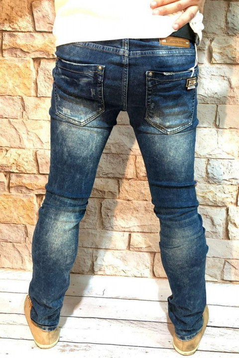 фото  1  Чоловічі джинси сині з теркою 2048 - JEANS 24