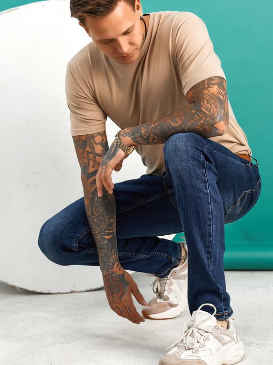 фото  2  Мужские джинсы темно-синие по ноге 1558 - JEANS24   2