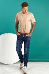 фото  1  Мужские джинсы темно-синие по ноге 1558 - JEANS24   1
