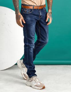 Чоловічі джинси темно-сині по нозі 1558