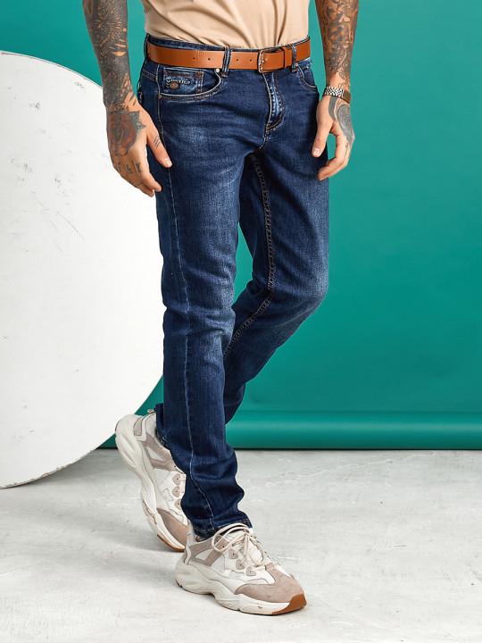 Мужские джинсы темно-синие по ноге 1558   JEANS24