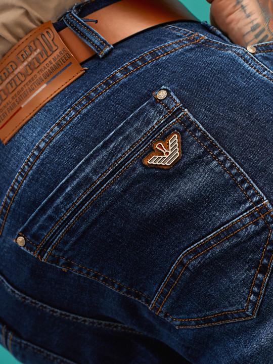 задний карман Мужские джинсы подуженные 1557