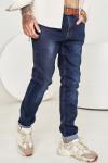 Чоловічі джинси темно-сині 1567 фото