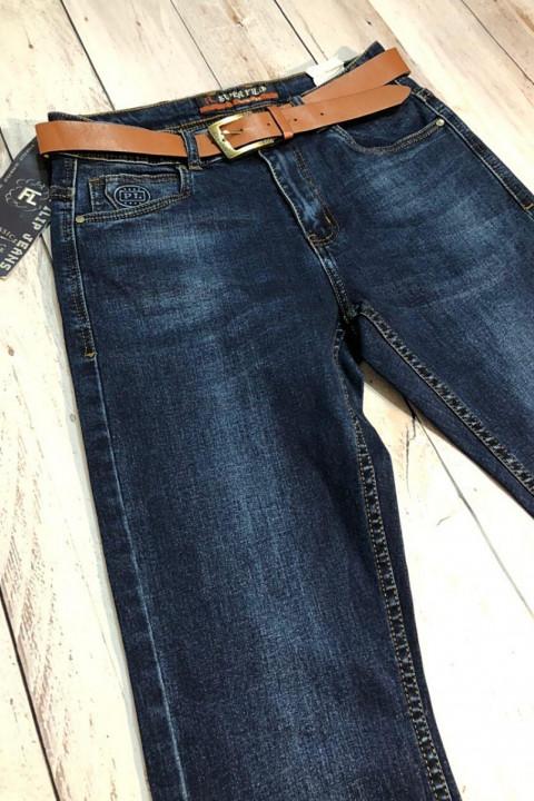 Чоловічі джинси темно-сині SF566 фото | JEANS 24