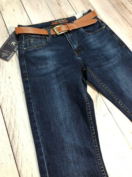 Чоловічі джинси темно-сині SF566 фото   JEANS 24