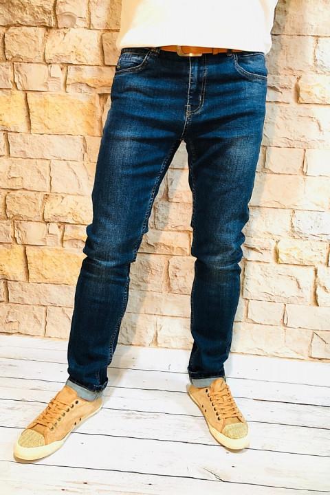 Мужские джинсы синие по ноге SF567   JEANS 24