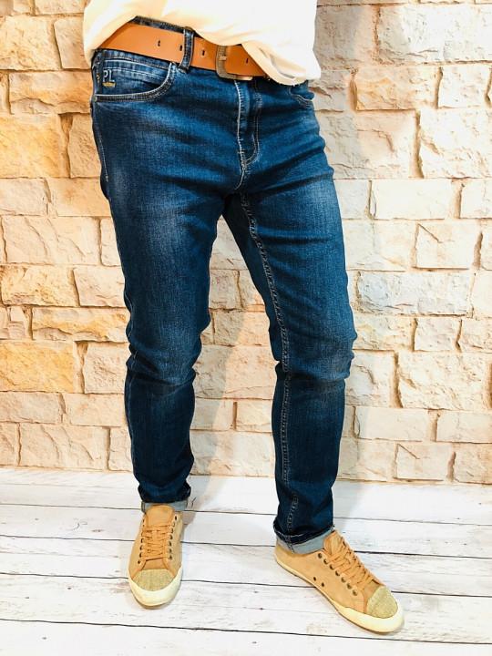 фото Чоловічі джинси сині по нозі SF567 | JEANS 24