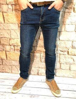 Чоловічі джинси темно-сині стретч SF569