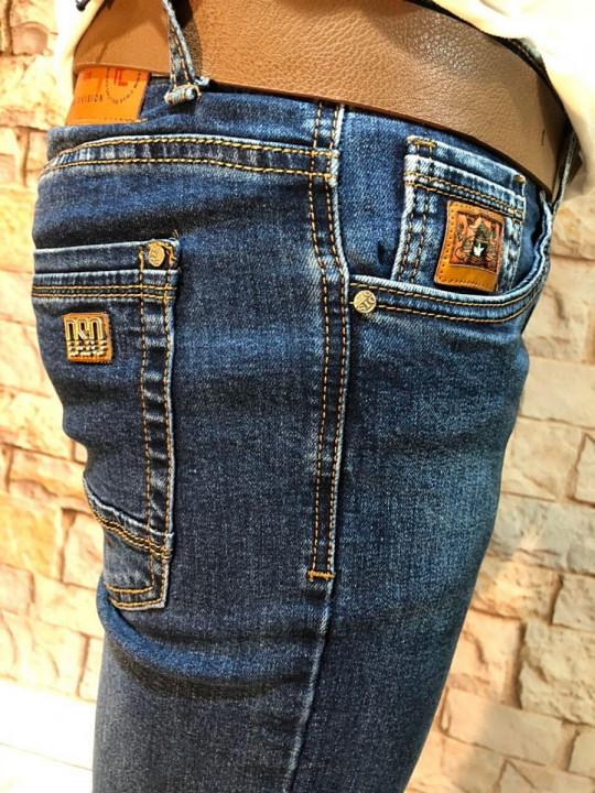фото Чоловічі джинси темно-сині стретч SF569 | JEANS 24