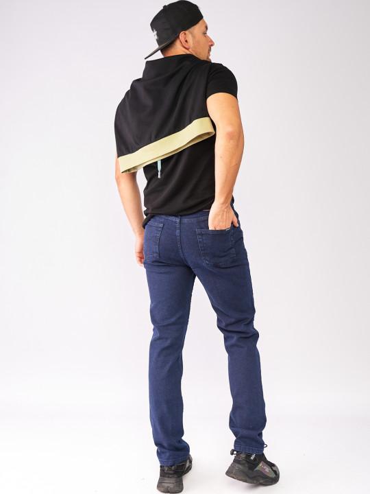 фото Джинси темно-сині рельєфні тканина 860 в JEANS24