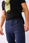 фото  1  Джинси темно-сині рельєфні тканина 860 - JEANS24