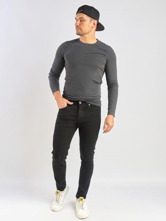 Чоловічі джинси чорні Slim fit 576 фото