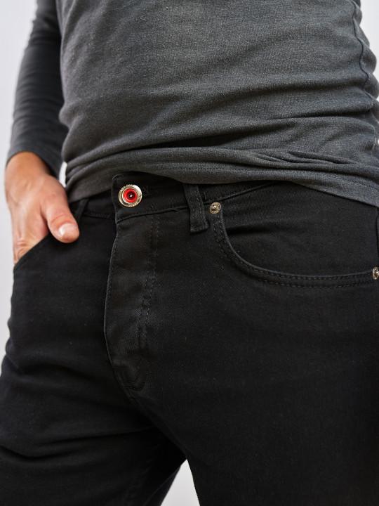 Чоловічі джинси чорні Slim fit 576 выбрати