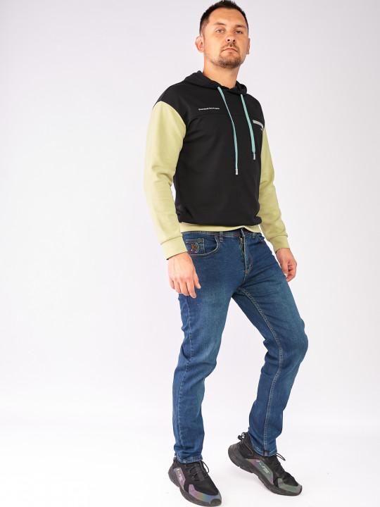 Джинси сині з зеленим відтінком слим 5101 фото