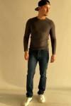 Мужские джинсы синие Regular 045