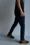 Джинсы темно-синие винтаж царапки 3320