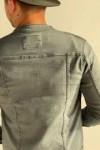 Джинсова куртка колір графіт сірий