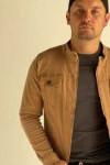 Джинсова куртка коричнева